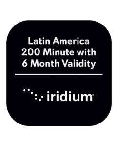 Iridium Latin America 200 Minute with 6 Month Validity Prepaid Plan