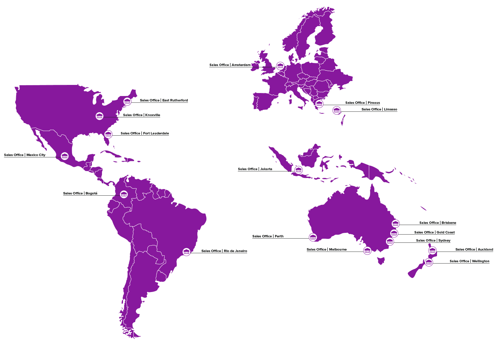 Pivotel Global Locations Map 2021